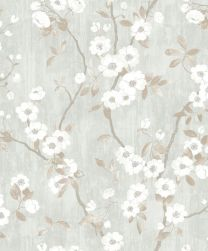 DELICACY SPRING FLOWER TAUPE / BLEU
