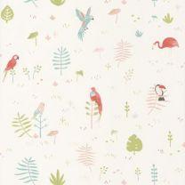 papel pintado infantil selva