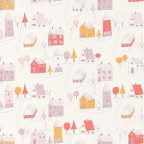 papel niñas casitas